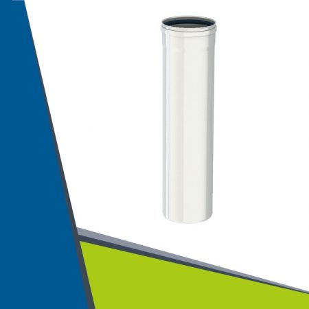 Alu pipe 500 mm D100 (white)