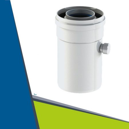 Alu/Alu pipe with condensate collector D60/100
