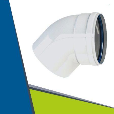 Alu elbow 45° D80 (white)