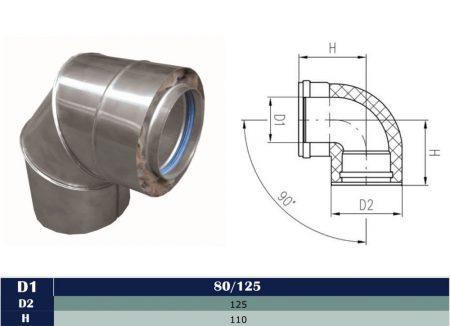 Alu/Alu insulated elbow 90° D80/125
