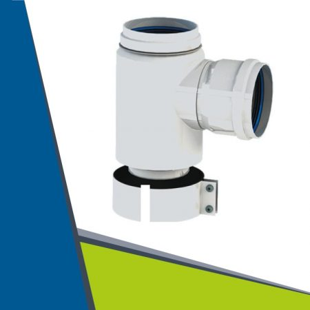 Alu/Alu dividing adapter from D60/100 to 2×80 mother