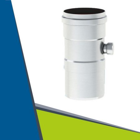 Alu pipe with condensate collector D80