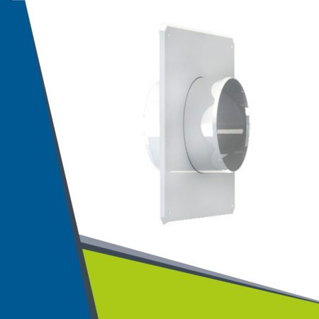 Wall end for flue pipe D125 mm