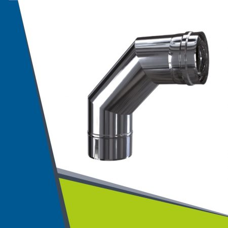 INOX/INOX concentric elbow 93° with revision D100/150
