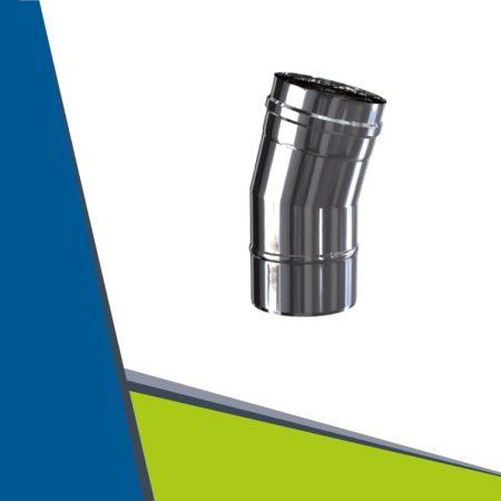 INOX/INOX concentric elbow 15° D80/125