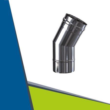 INOX/INOX koncentrikus könyök 30° D100/150