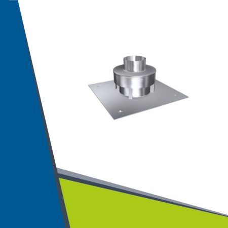 INOX roof plate with air uptake D160