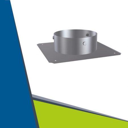 INOX kürtőfedél egyszerű kivitel D160