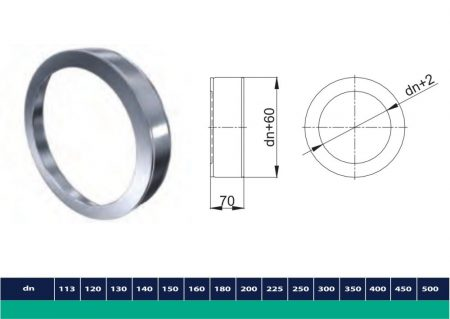 INOX/INOX insulated end plug D130/190