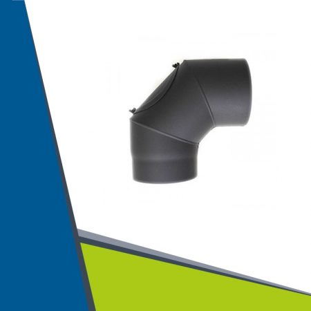 Fireplace stove elbow with revision 90° D150