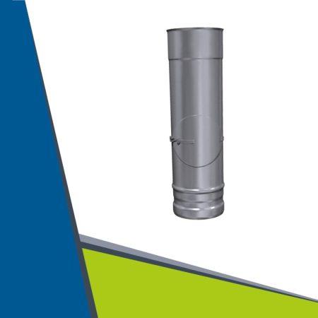 INOX  egyenes cső tisztító nyílással D160