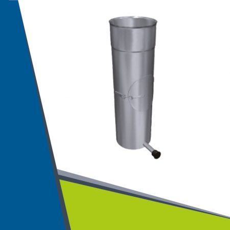 INOX  egyenes cső tisztító nyílással, kondenz elvezetéssel D160