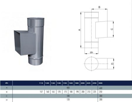 INOX pipe with revision D130 (gravitation)