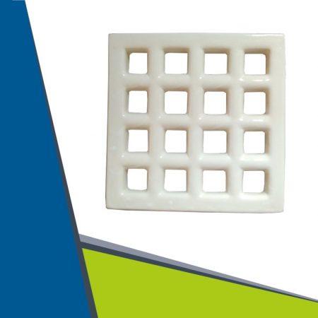 Ceramics ventilation grille white D200x200 mm