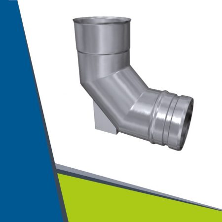 INOX elbow with support 93° D200