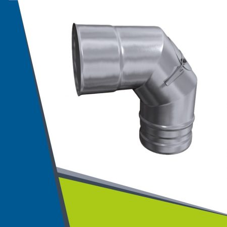 INOX elbow with revision 93° D100