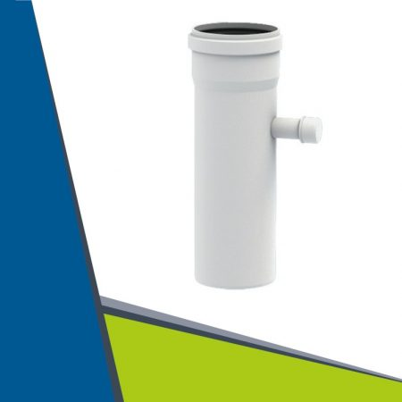 PPs pipe with condensate collector D80