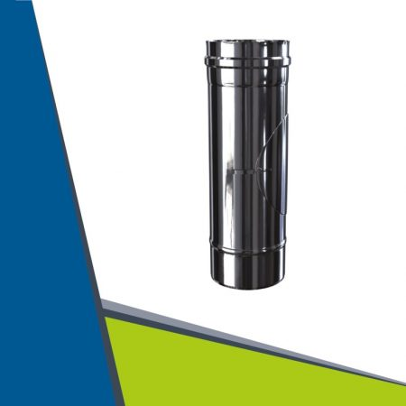 INOX/INOX concentric pipe with revision D60/100