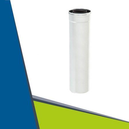 PPs/INOX koncentrikus cső 1000mm egyenes légbeszívóhoz D80/130