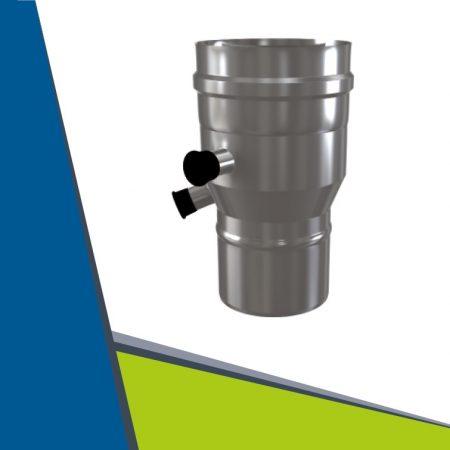 INOX/INOX insulated reducer from twin-wall to twin-wall 60/100-ról 80/125-re, mérőpontokkal