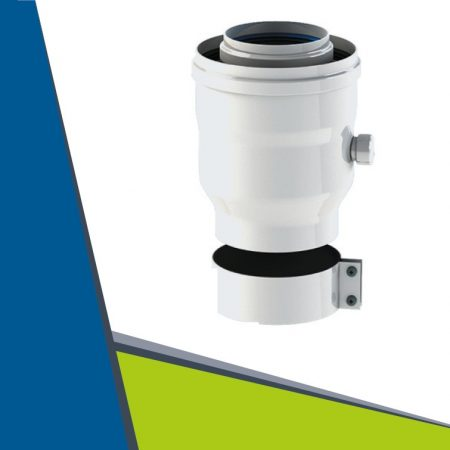 Ariston starting part with condensate collector and air clamp D60/100-D80/125 (turbo)