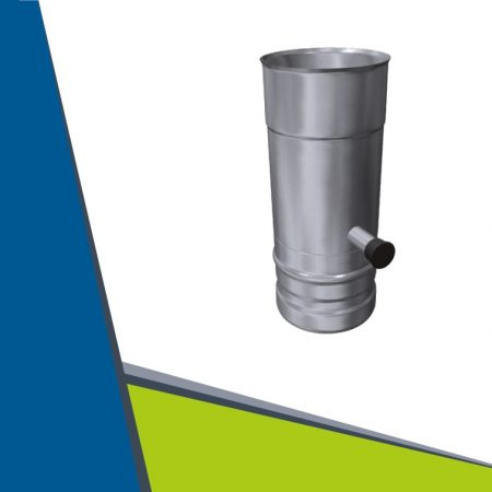 INOX pipe with condensate collector D60