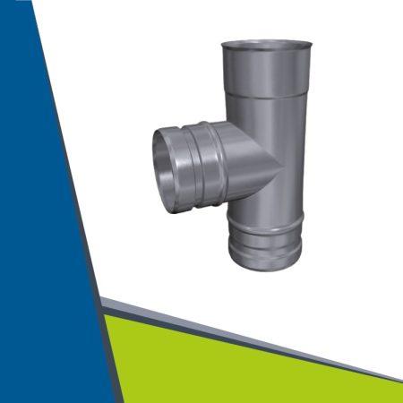 INOX T-pipe 87° D140