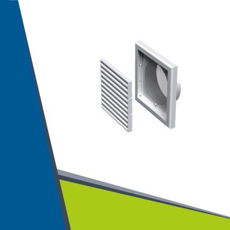 Műanyag szellőzőrács takaró 250x250 mm