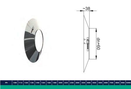 INOX/INOX szigetelt faláttörést takaró gallér D225/285
