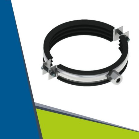 Rubber lined universal clamp 190-200 mm